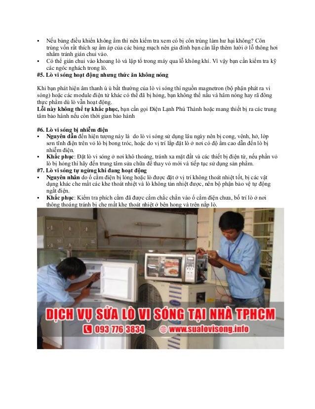 Dịch vụ sửa lò vi sóng tại nhà ở TPHCM - Điện lạnh Phú Thành Slide 3