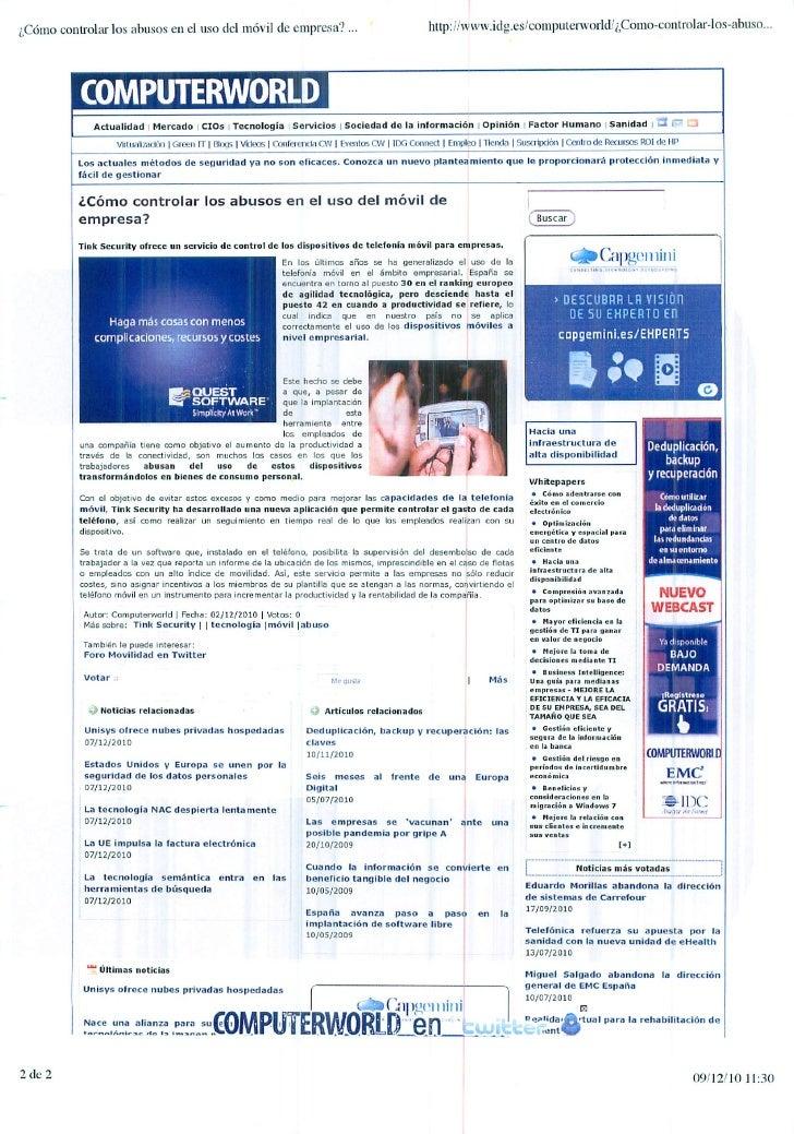 Okuri Ventures & Tetuan Valley - Menciones en medios Dic2010