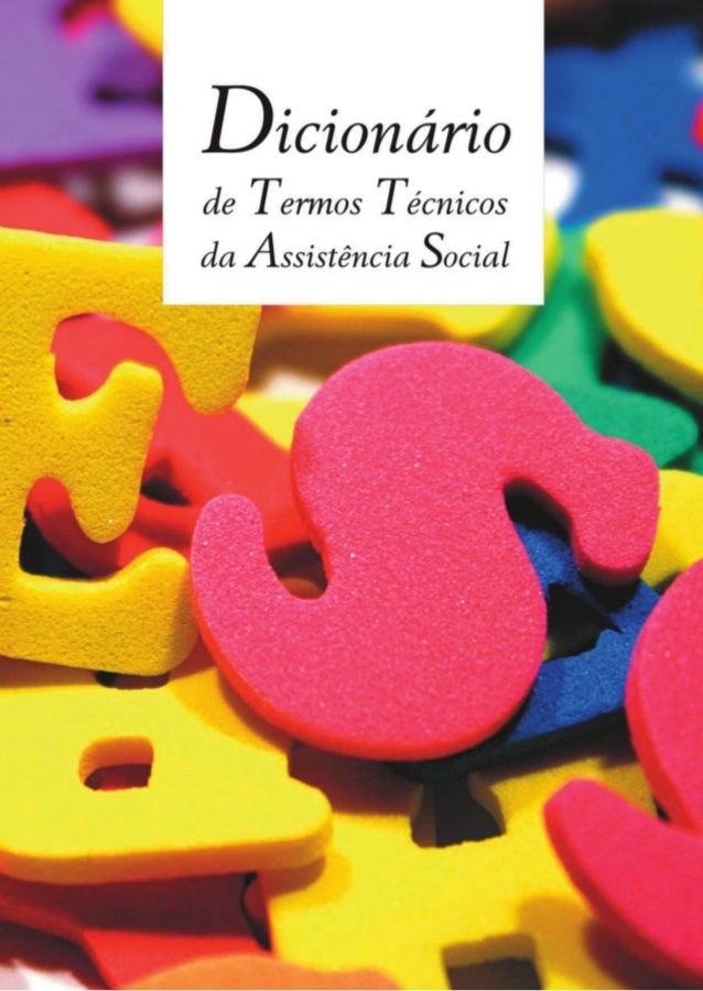 Dicionáriode TermosTécnicos daAssistênciaSocial2007