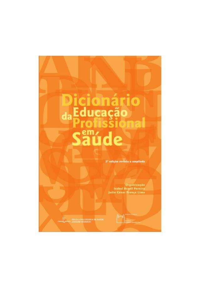 DicionáriodaEducação Profissional  em Saúde