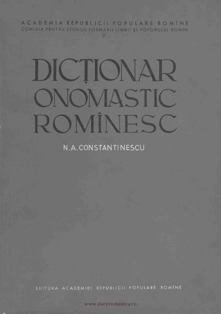 ACADEMIA REPUBLICII POPULARE ROMINECOMISIA PENTRU STUDIUL FORMARII LIMBII SI POPORULUI ROMIN                           V  ...