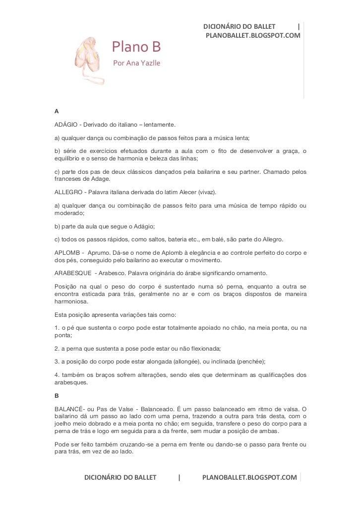DICIONÁRIO DO BALLET             |                                ...