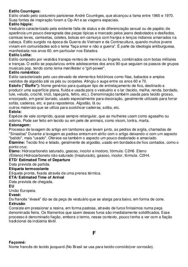 e43f8702f96fc Dicionário textil