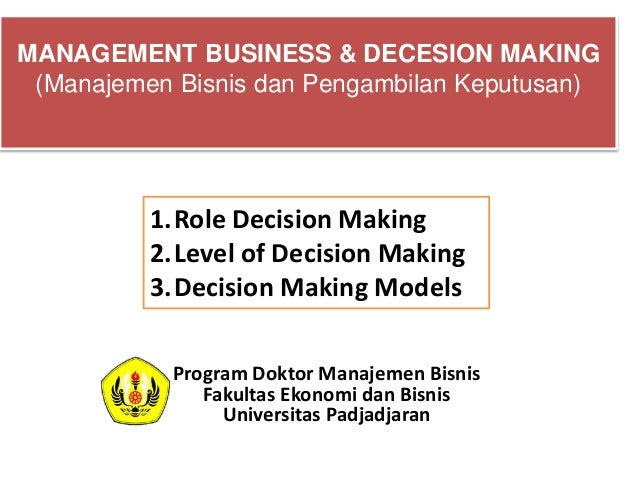 strategic decesion making Decision making strategies are characterized in many ways however, there are  a handful of strategies that apply specifically to managerial decision making.