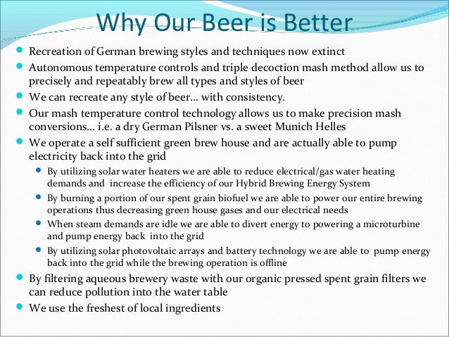 Microbrewery Business Plan – Executive Summary Sample
