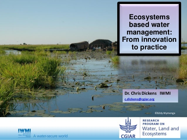 Ecosystems based water management: From innovation to practice Dr. Chris Dickens IWMI c.dickens@cgiar.org ©Eddy Wymenga