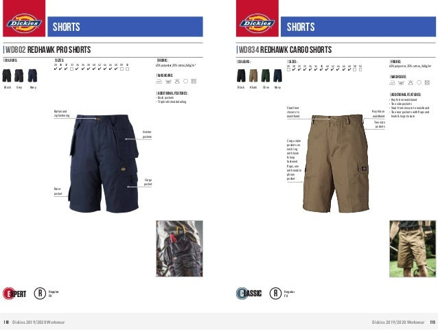 "Dickies Redhawk Cargo Work Shorts Waist Size 30-46/"" Khaki Olive Navy Black WD834"