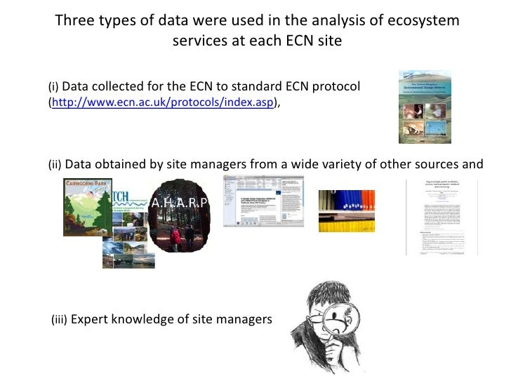 A comparison of ecosystem services delivered by eleven long-term monitoring  sites in the UK Environmental Change Network [Jan Dick]
