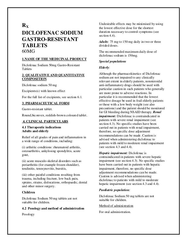 Diclofenac Sodium 50mg Gastro Resistant Tablets Smpc Taj Pharmaceuti