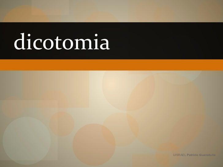 dicotomia UISRAEL  Patricio Guanotuña