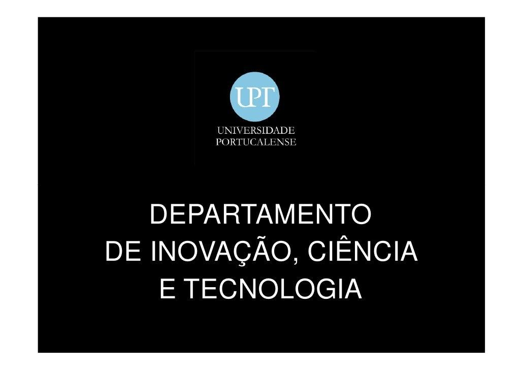 DEPARTAMENTO DE INOVAÇÃO, CIÊNCIA     E TECNOLOGIA