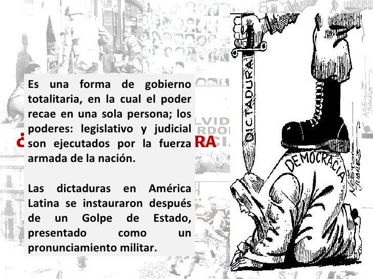 historia geografia y economia: las dictaduras militares