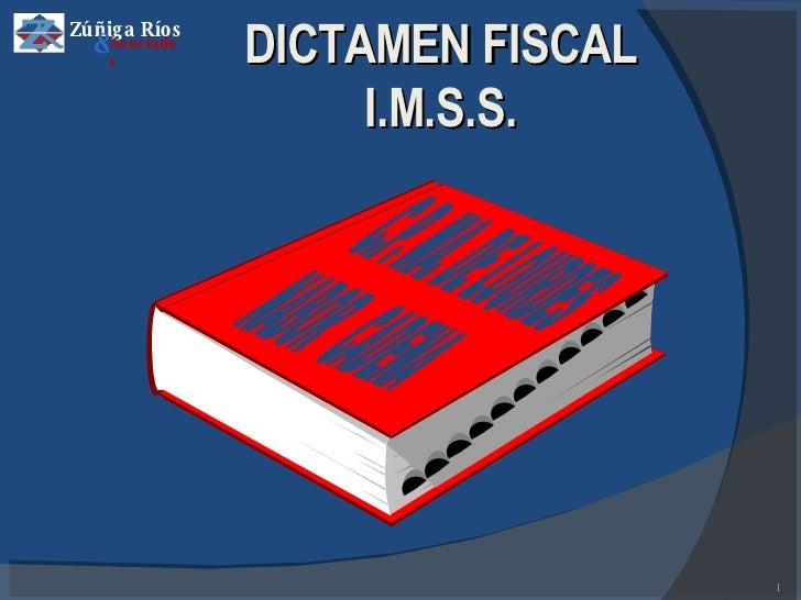 C.P. MA. DE LOURDES NABOR  CADENA DICTAMEN FISCAL I.M.S.S. Zúñiga Ríos & Asociados