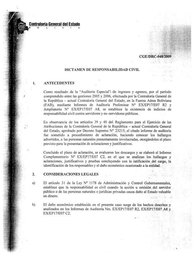Dictamen de la Contraloría General del Estado contra Ronald Casso, gerente de BoA