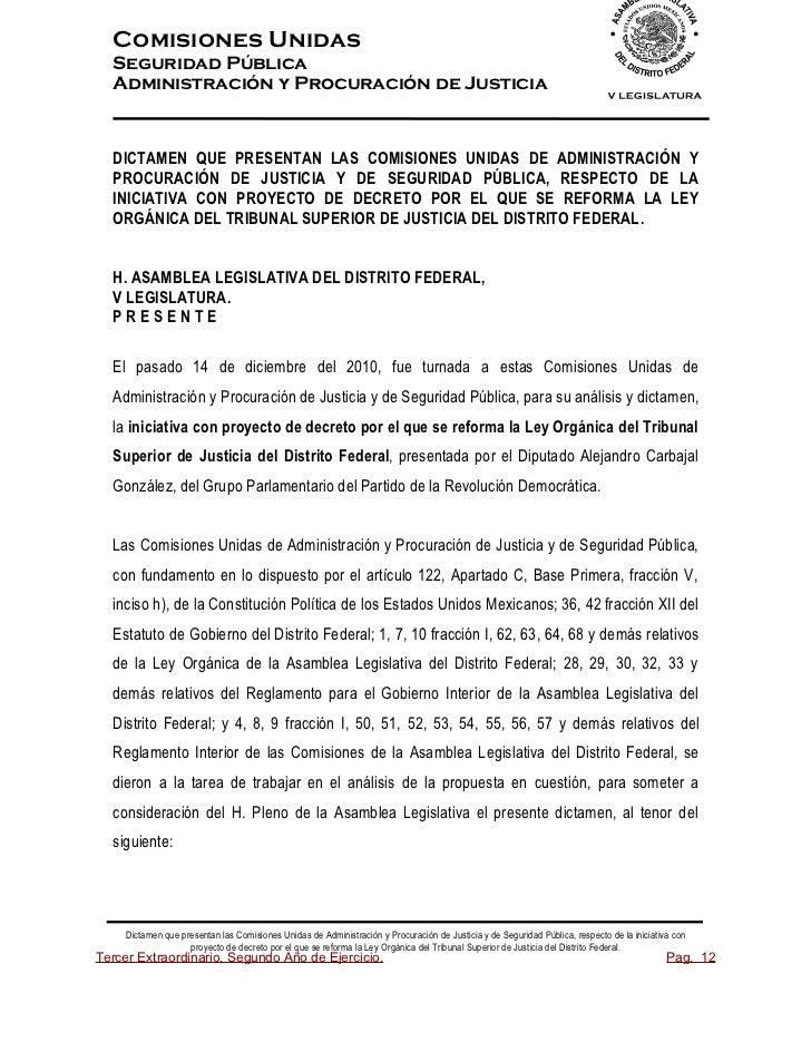 Comisiones UnidasSeguridad PúblicaAdministración y Procuración de JusticiaDICTAMEN QUE PRESENTAN LAS COMISIONES UNIDAS DE ...