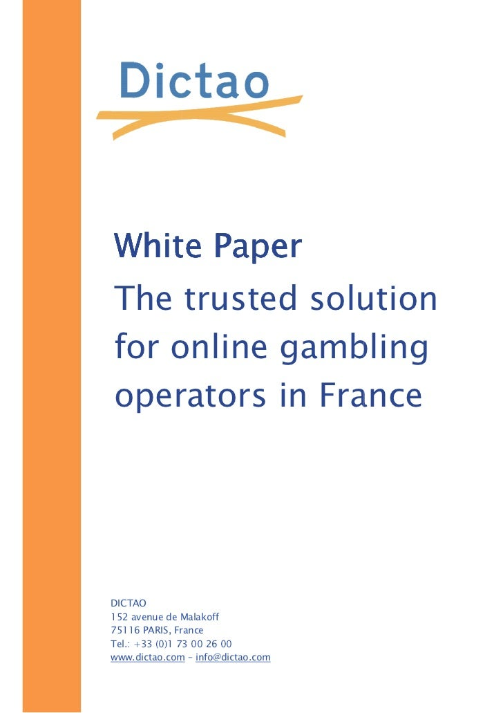 Online gambling paper linux roulette game
