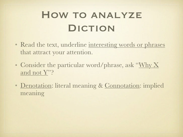 use of diction in if i The difference between whether and if - free interactive online grammar lesson home a-z grammar glossary punctuation easily confused words common errors grammar tests whether and if - the difference the quick answer use if to introduce a condition.