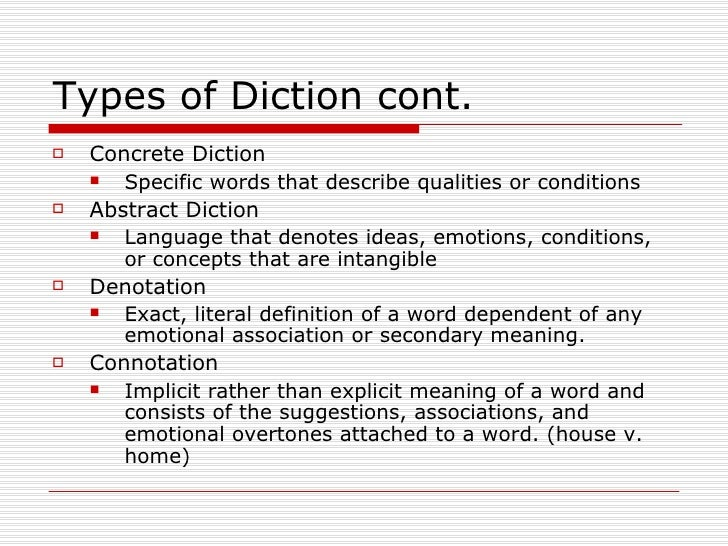 Diction for Concrete diction