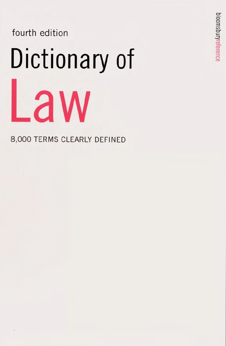 Dictionary Of Law By P.H.Collins