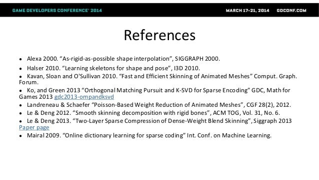 Dictionary Learning in Games - GDC 2014