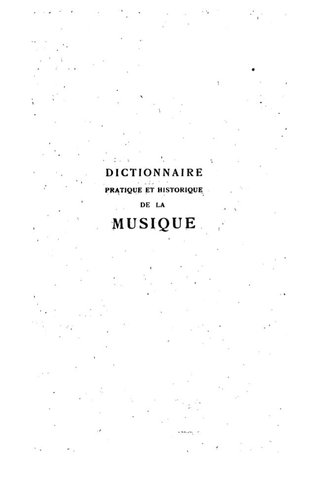 Dictionnaire de musique de Brenet