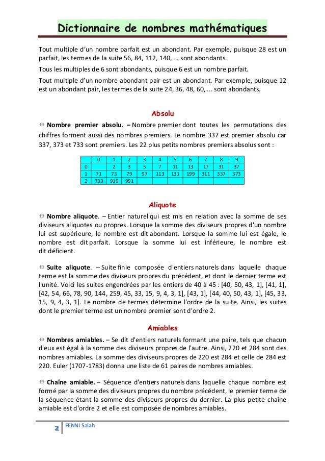Dictionnaire de math matiques for Les multiples de 6