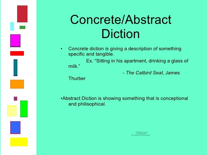 Concrete Diction Of Diction Project