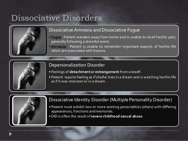 Depersonalization disorder case studies