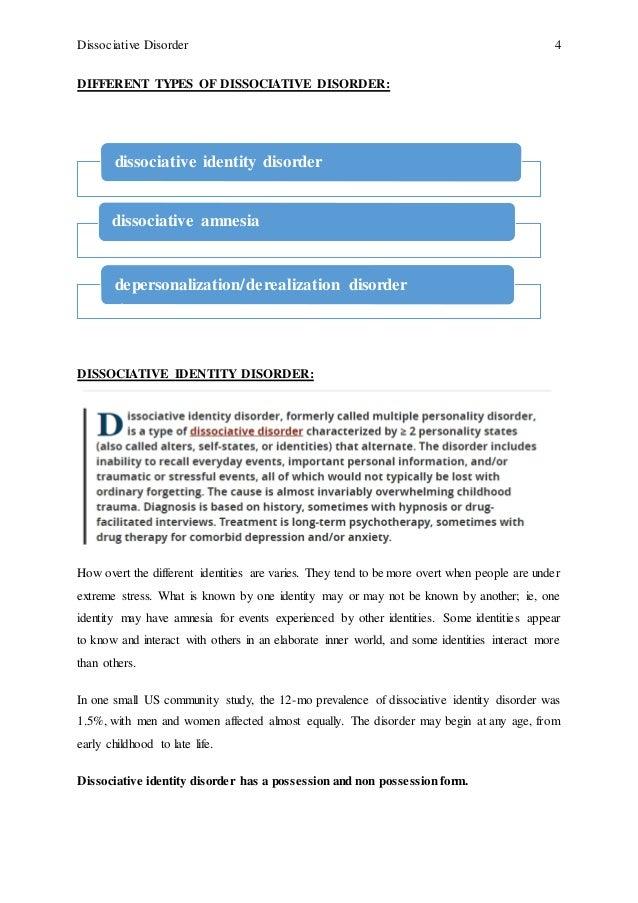 dissociative identity disorder age range