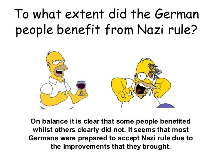 to what extent did the nazis