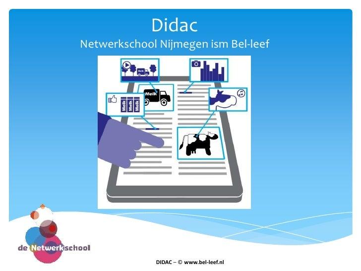 Presentatie Didac Marjolein van Belle