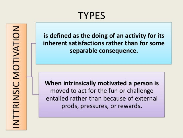 SELF CONTROL THEORY; 9. INTTRINSIC MOTIVATION TYPES Is Defined ...