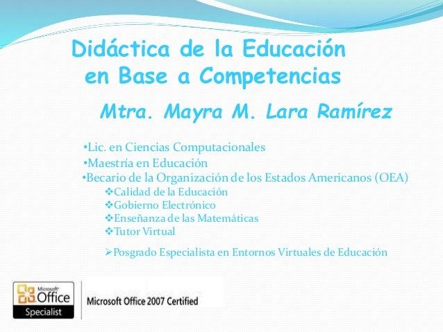 •Maestría en Educación •Becario de la Organización de los Estados Americanos (OEA) Calidad de la Educación Gobierno Elec...
