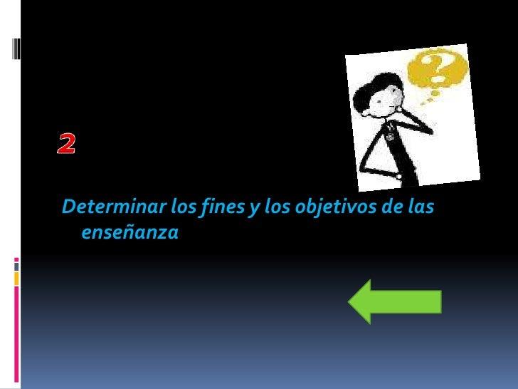 Informar a los maestros los métodos que han             de utilizar en la enseñanza de los     alumnos, es decir, como se ...