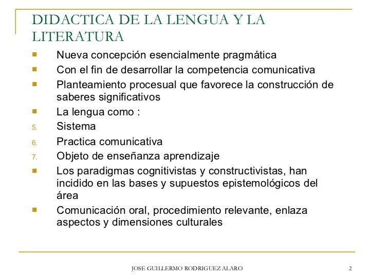 Didactica De La Lengua Y La Literatura Slide 2