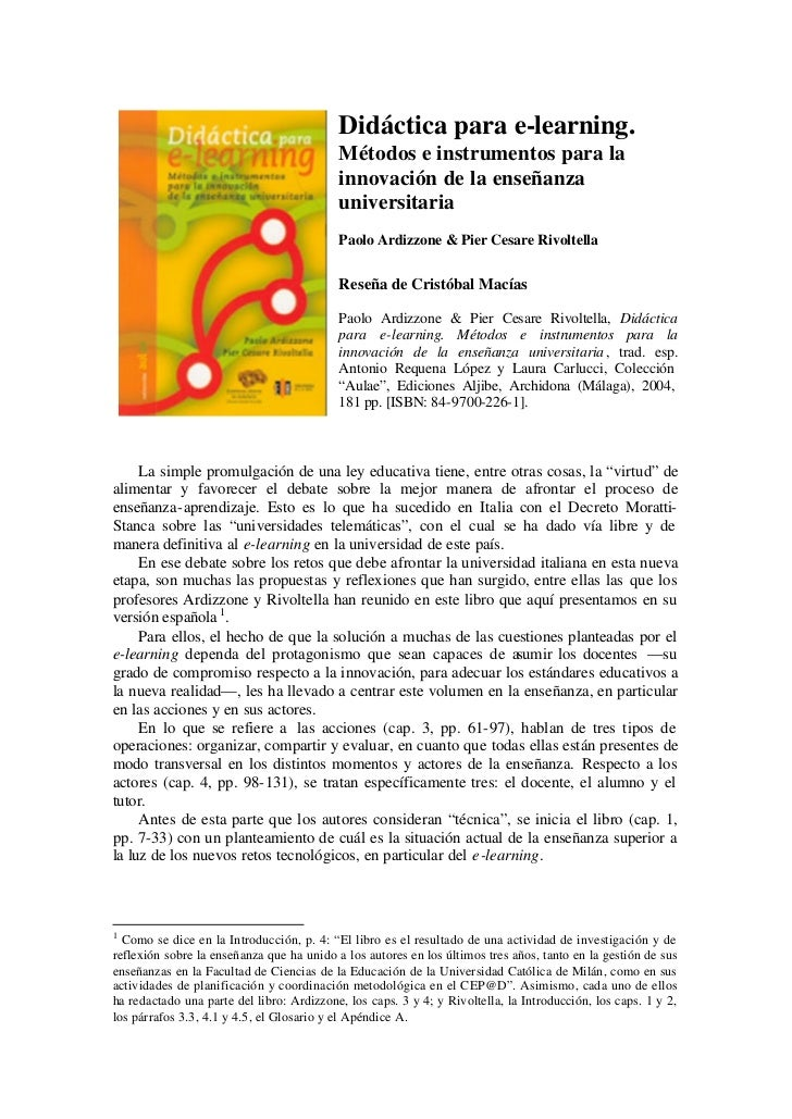 Didáctica para e-learning.                                           Métodos e instrumentos para la                       ...