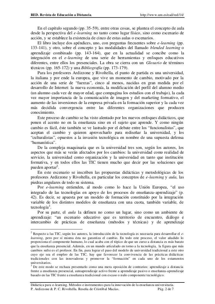 RED. Revista de Educación a Distancia.                                        http://www.um.es/ead/red/14/     En el capít...