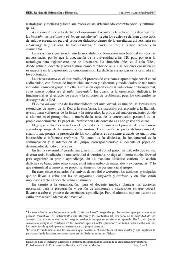 RED. Revista de Educación a Distancia.                                     http://www.um.es/ead/red/14/(estrategias y táct...