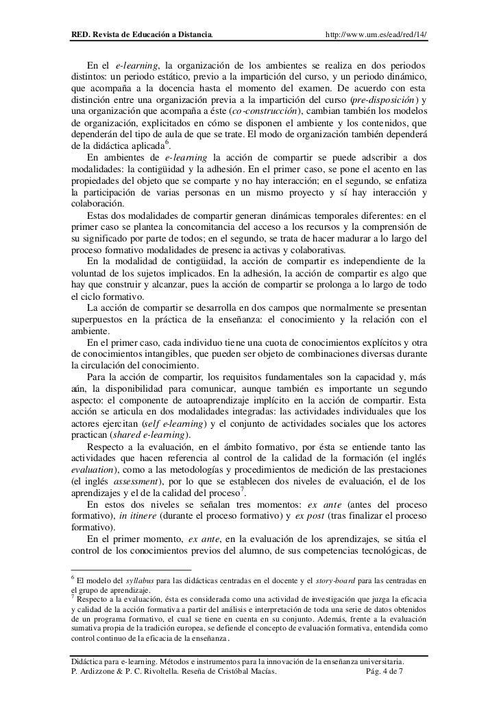RED. Revista de Educación a Distancia.                                       http://www.um.es/ead/red/14/     En el e-lear...