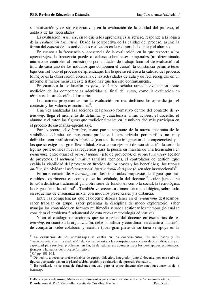 RED. Revista de Educación a Distancia.                                     http://www.um.es/ead/red/14/su motivación y de ...