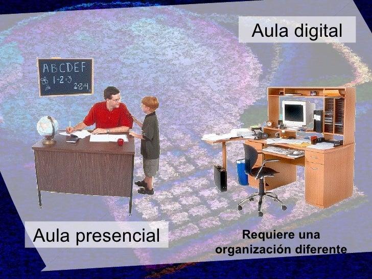 Aula digital Aula presencial Requiere una organización diferente