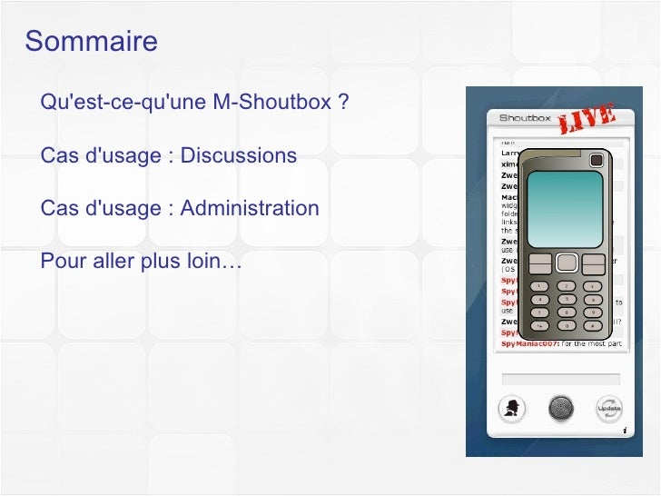 Didacticiel M-Shoutbox Light Slide 2