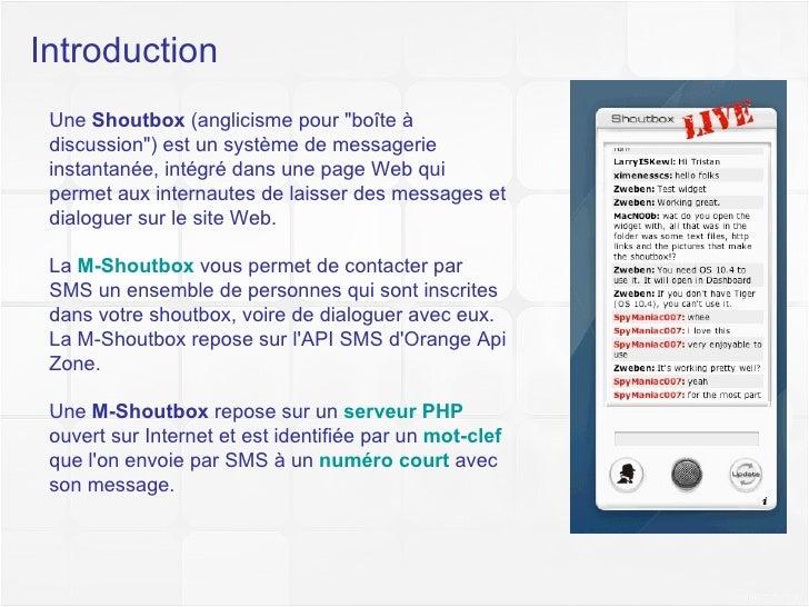 Didacticiel M-Shoutbox Light Slide 3
