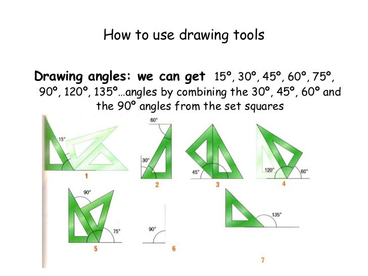 Drawing Parallel Lines With Set Squares : Ffh technical drawing i