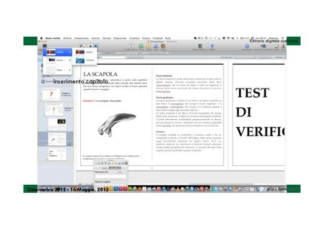 Editoria digitale scolastica          Inserimento capitoloDidamatica 2012 - 16 Maggio, 2012            Mirco Compagno