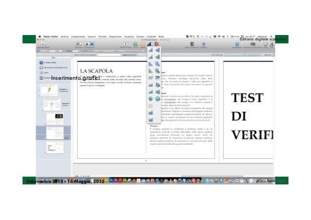 Editoria digitale scolastica          Inserimento graficiDidamatica 2012 - 16 Maggio, 2012            Mirco Compagno