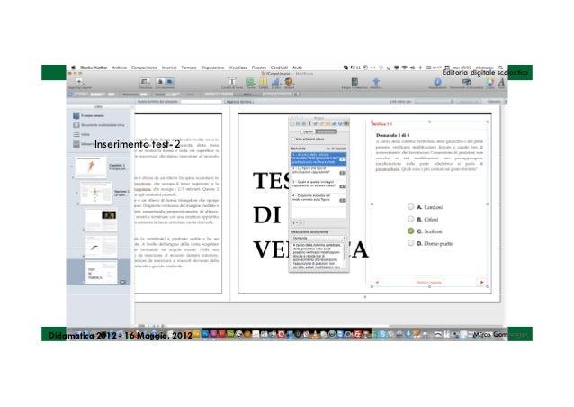 Editoria digitale scolastica          Inserimento test-2Didamatica 2012 - 16 Maggio, 2012            Mirco Compagno