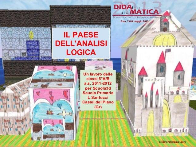 IL PAESEDELLANALISILOGICAUn lavoro delleclassi 5°A/Ba.s. 2011-2012per Scuola3dScuola PrimariaL.SantucciCastel del Piano(Gr...