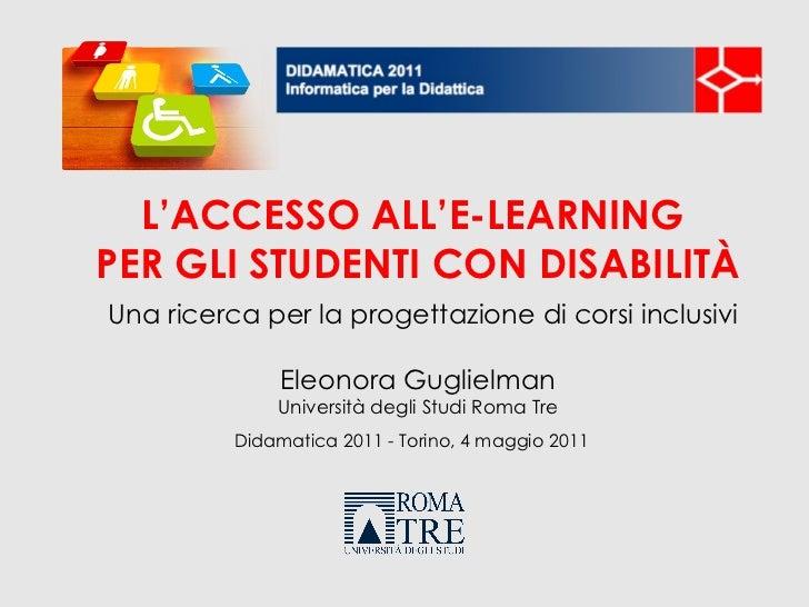 L'accesso all'e-learning per gli studenti con disabilità