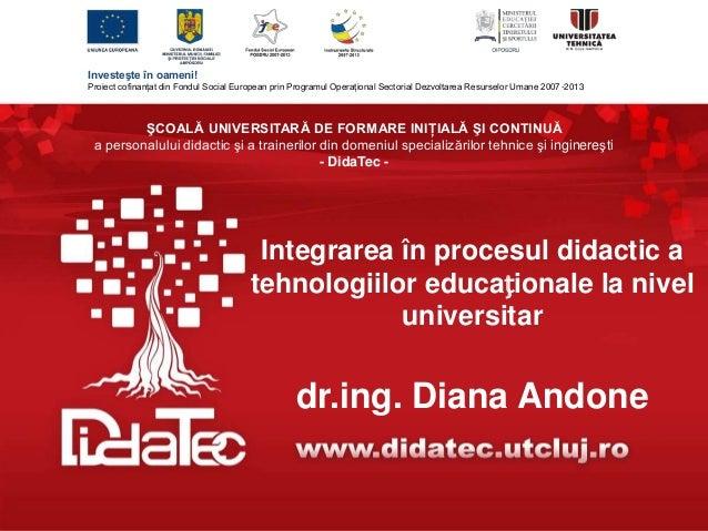 Investeşte în oameni! Proiect cofinanţat din Fondul Social European prin Programul Operaţional Sectorial Dezvoltarea Resur...
